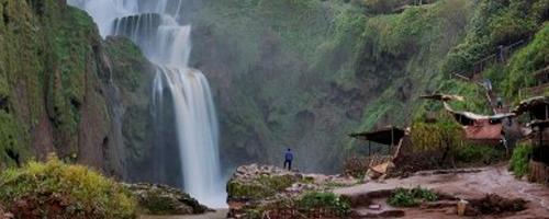 Viaje de novios a Marruecos visita las Cascadas de Ouzoud