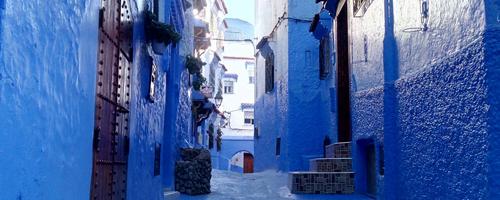 Ciudad azul de Chauen en Marruecos