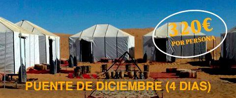 oferta puente de disciembre al desierto de Marruecos 4 dias